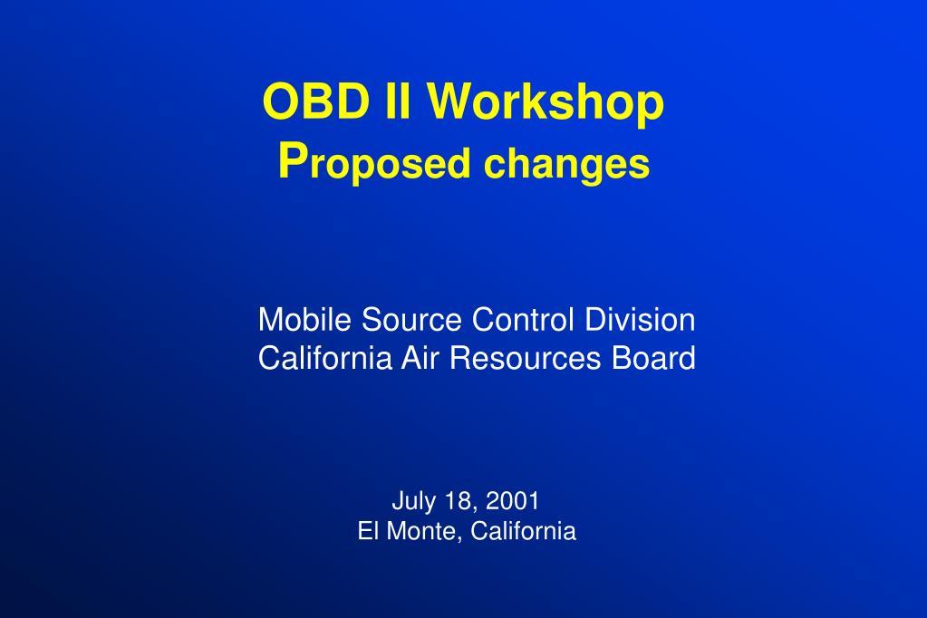 OBD II Workshop