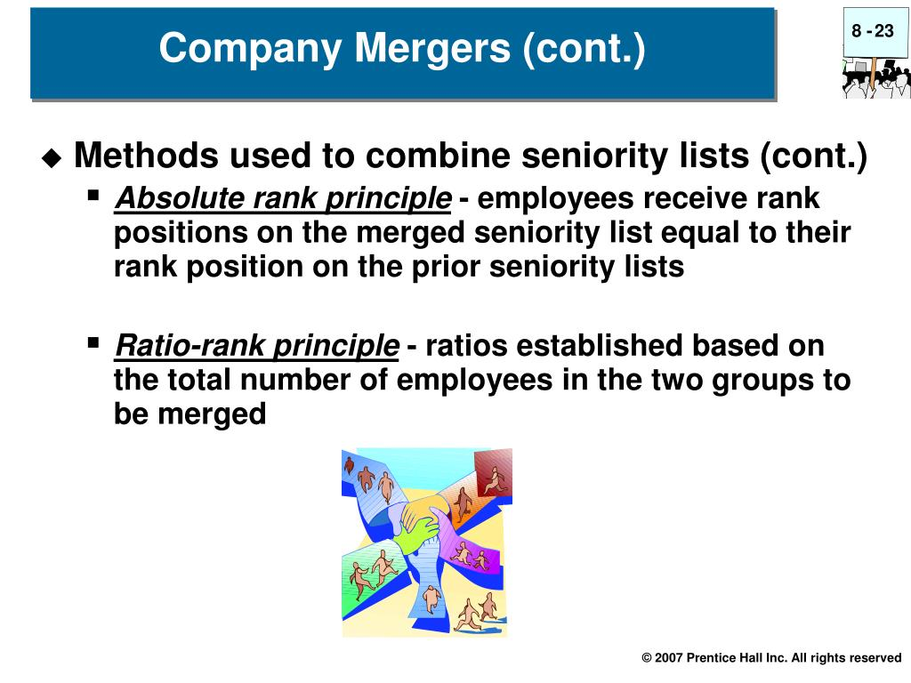 Methods used to combine seniority lists (cont.)