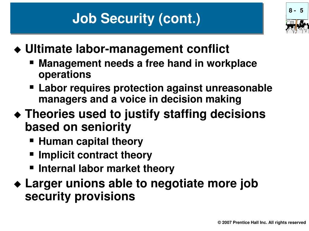 Ultimate labor-management conflict