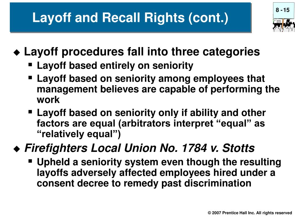 Layoff procedures fall into three categories