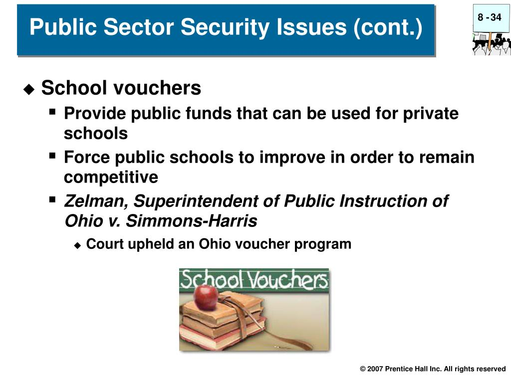 Public Sector Security Issues (cont.)