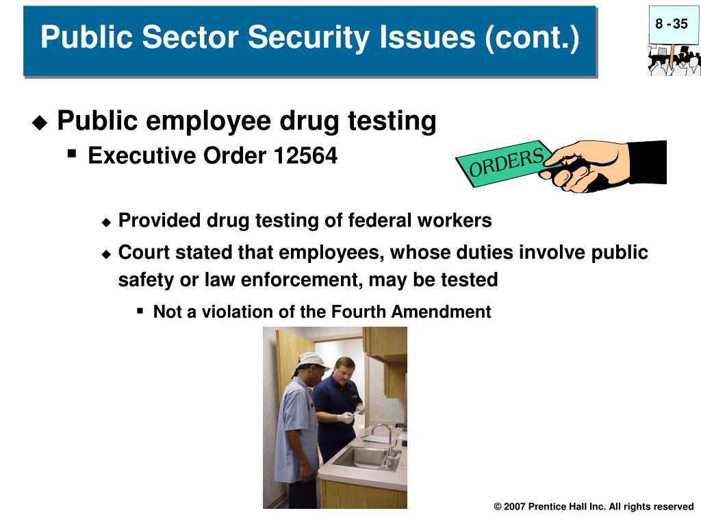 Public employee drug testing