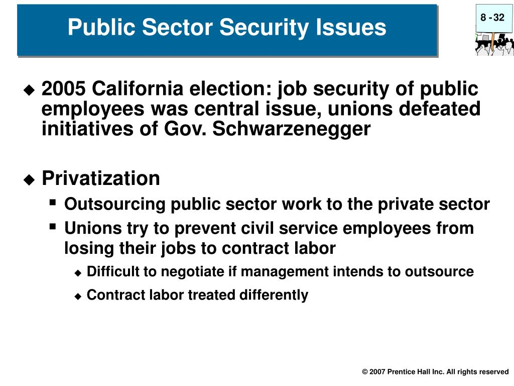 Public Sector Security Issues