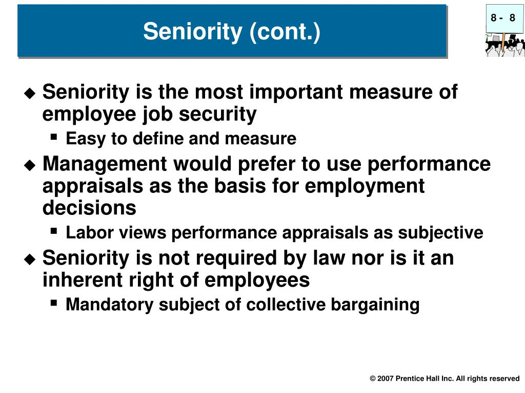 Seniority is the most important measure of employee job security