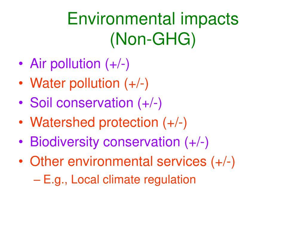 Environmental impacts