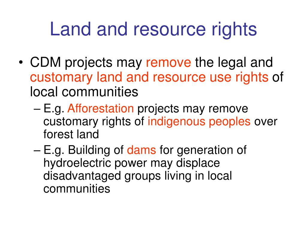 Land and resource rights