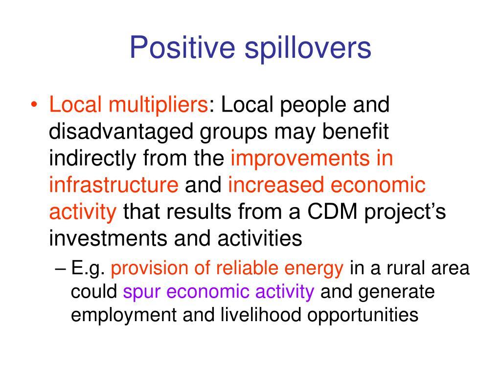 Positive spillovers