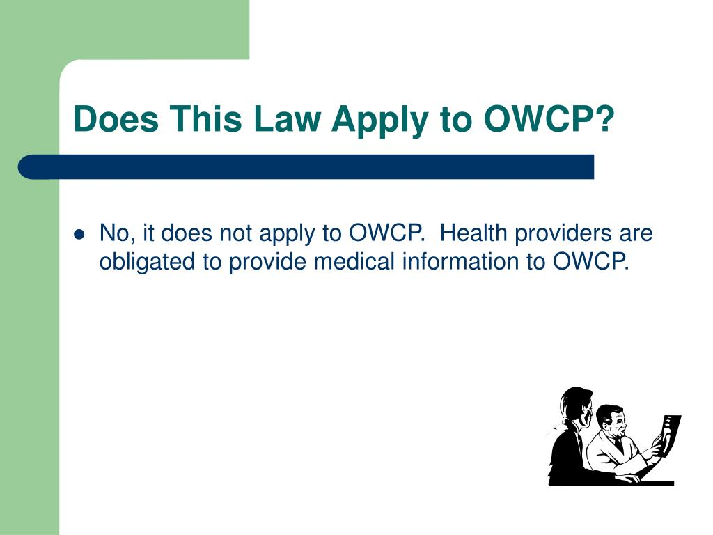 Does This Law Apply to OWCP?