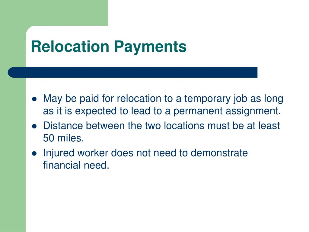 Relocation Payments