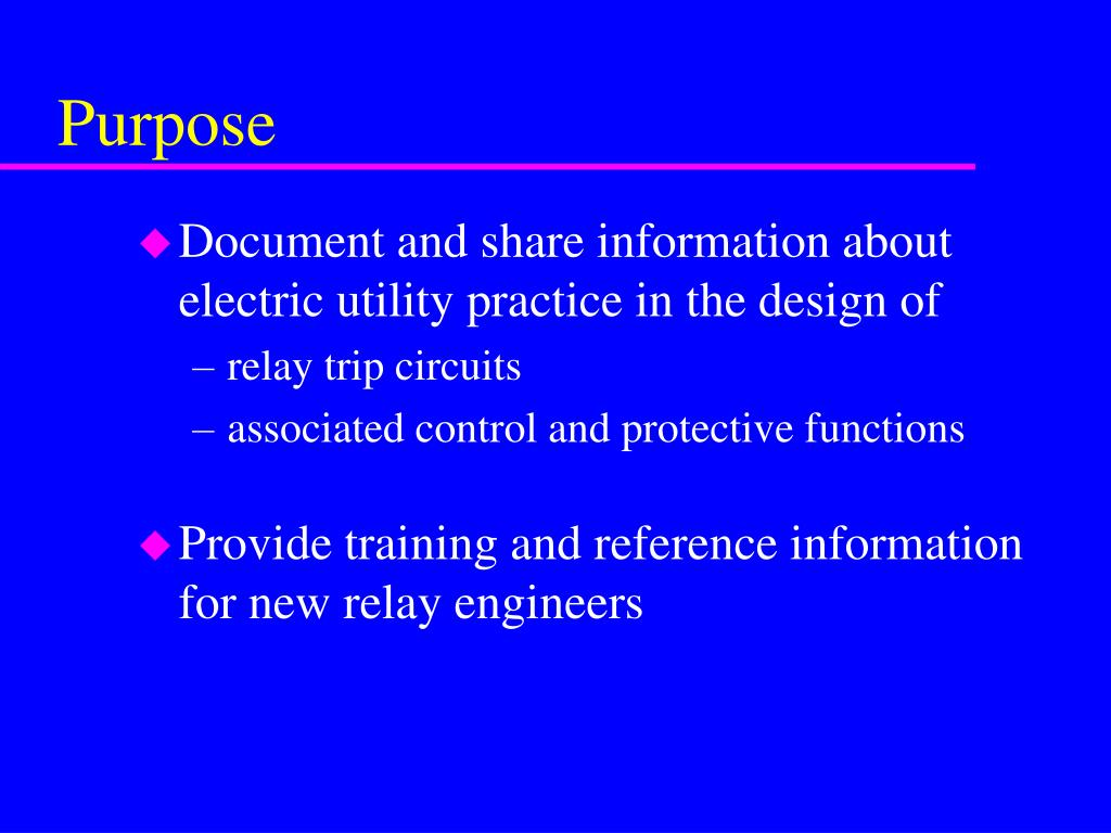 Ieee Relay Trip Circuit Design Free Wiring Diagram For You Inverter Ppt Summary Of Powerpoint Microwave Protection