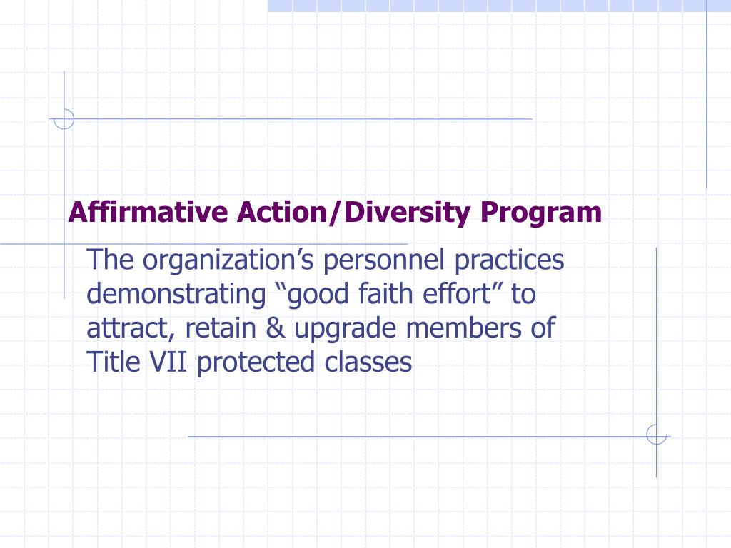 Affirmative Action/Diversity Program