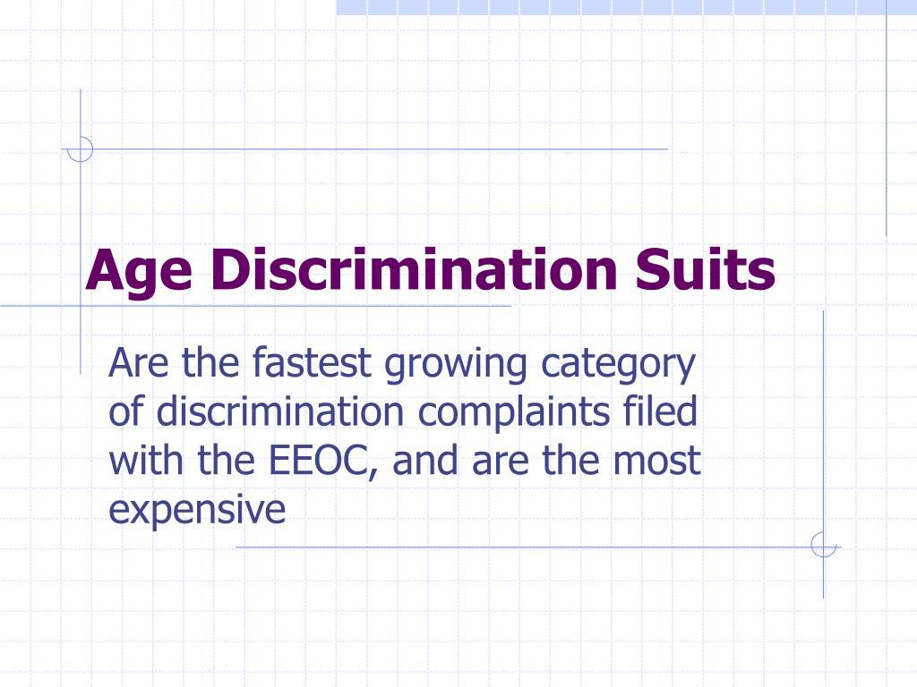 Age Discrimination Suits