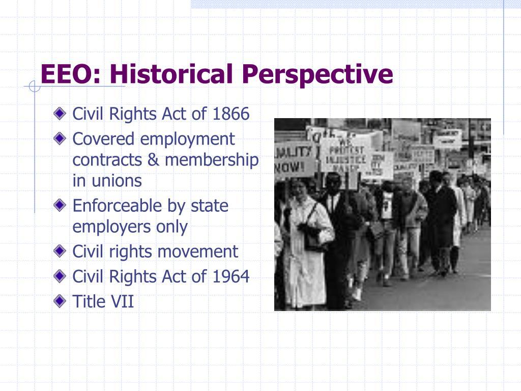 EEO: Historical Perspective