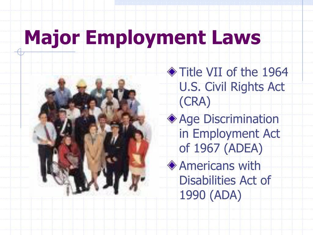 Major Employment Laws