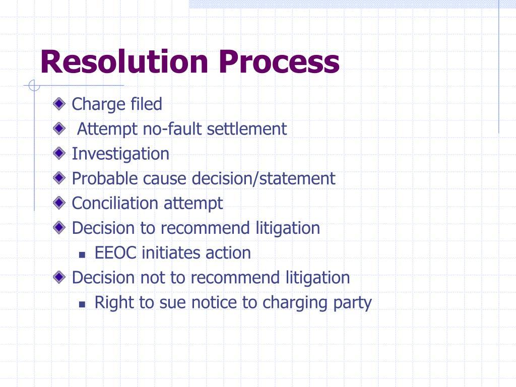Resolution Process
