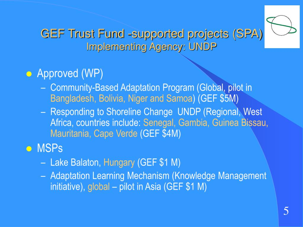 GEF Trust Fund -supported projects (SPA)