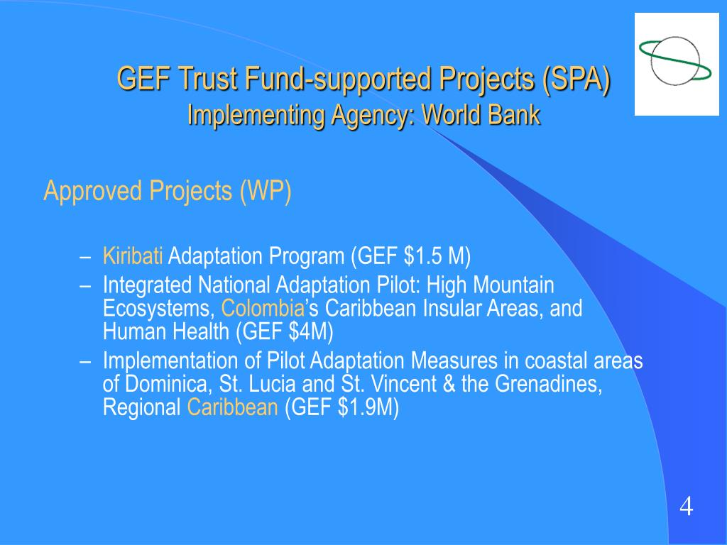 GEF Trust Fund-supported Projects (SPA)