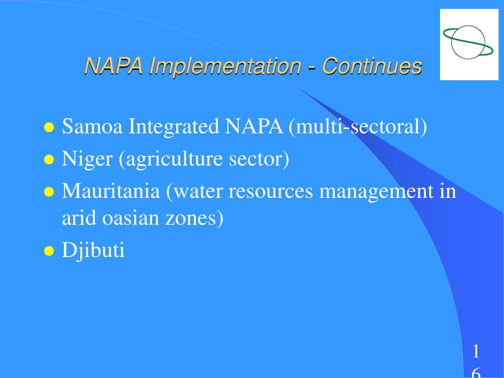 NAPA Implementation - Continues