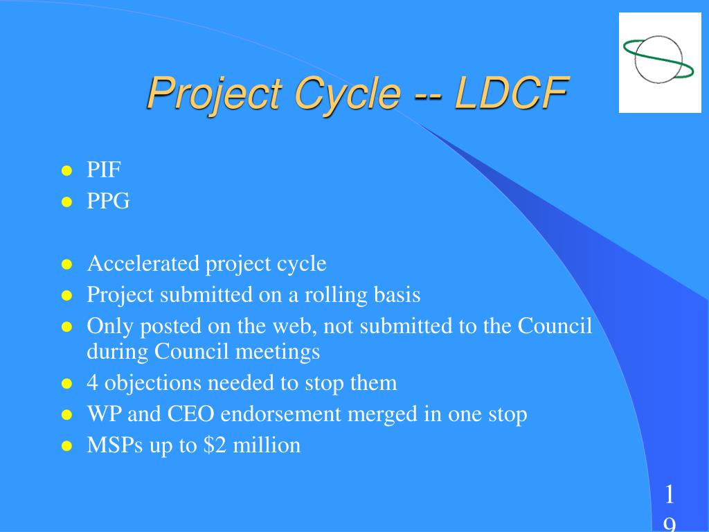 Project Cycle -- LDCF