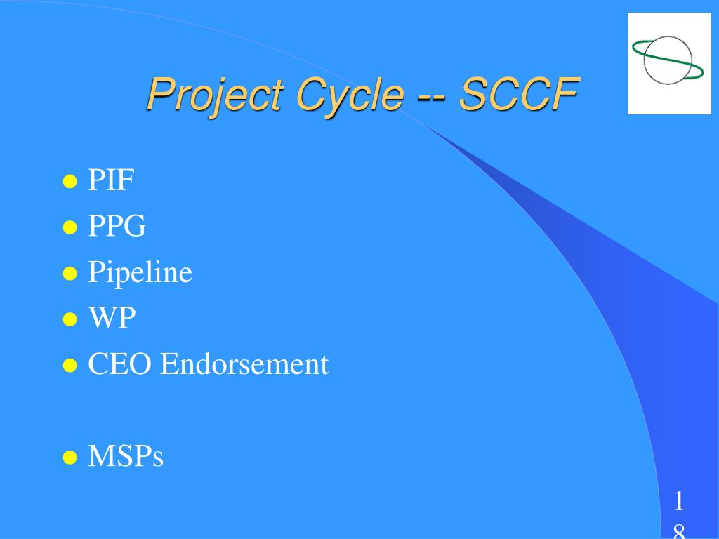 Project Cycle -- SCCF