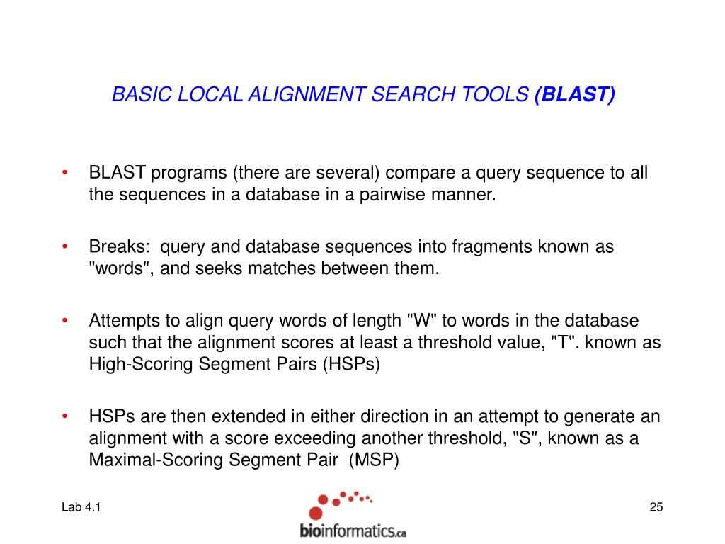 BASIC LOCAL ALIGNMENT SEARCH TOOLS