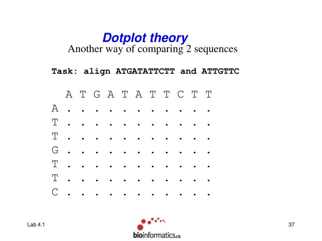 Dotplot theory