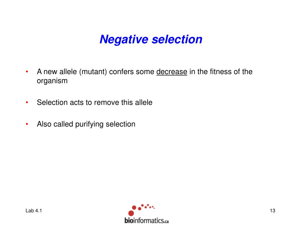 Negative selection