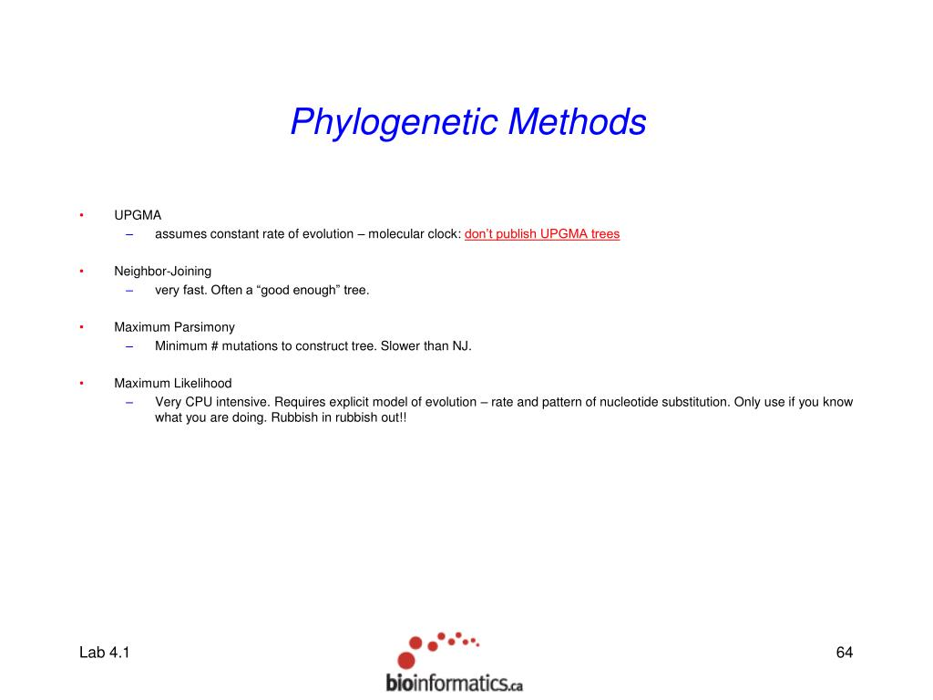 Phylogenetic Methods