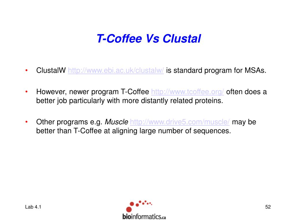 T-Coffee Vs Clustal