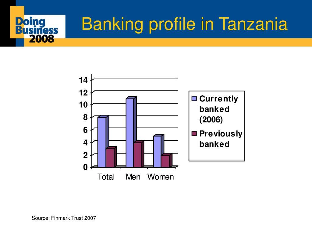 Banking profile in Tanzania