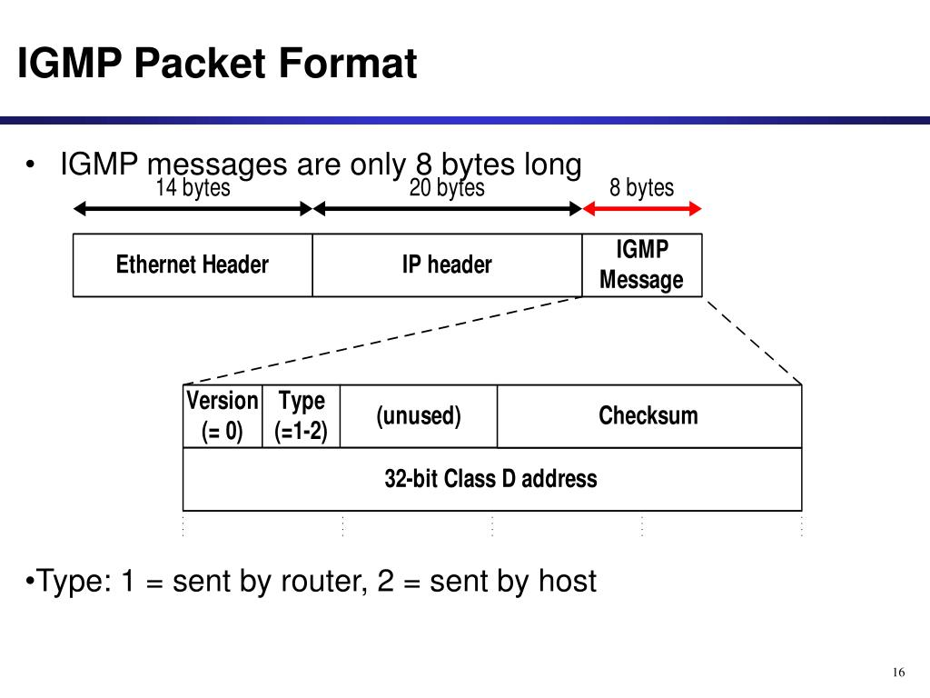 IGMP Packet Format