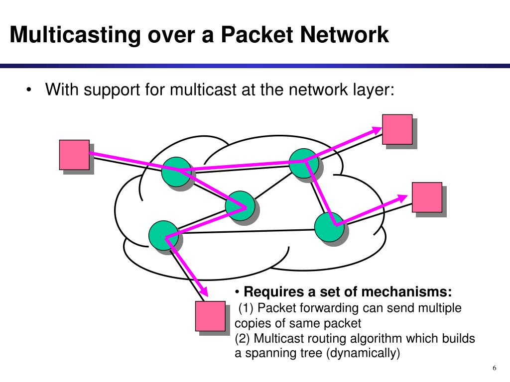 Multicasting over a Packet Network