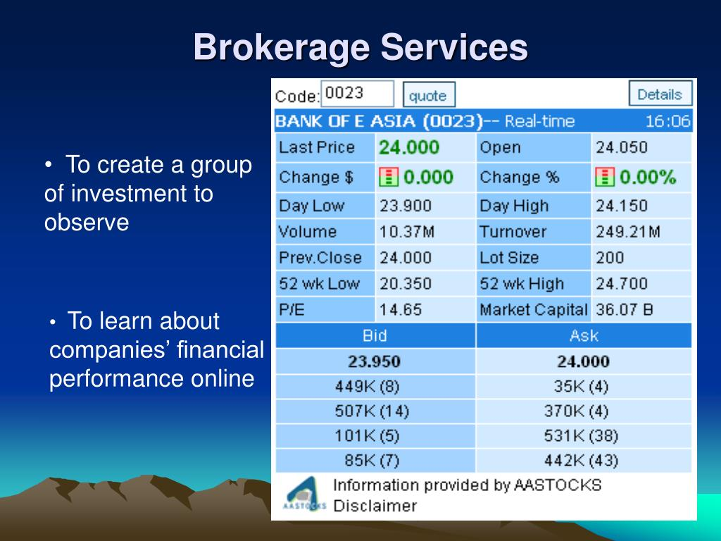 Brokerage Services