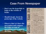 case from newspaper