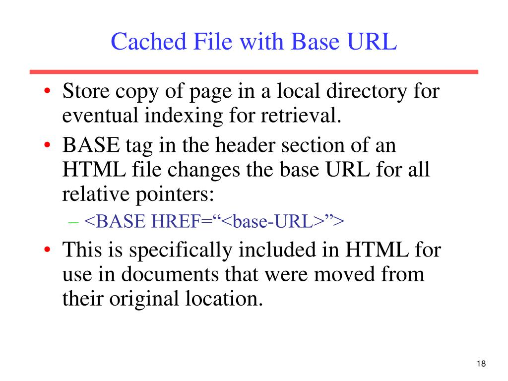 Cached File with Base URL