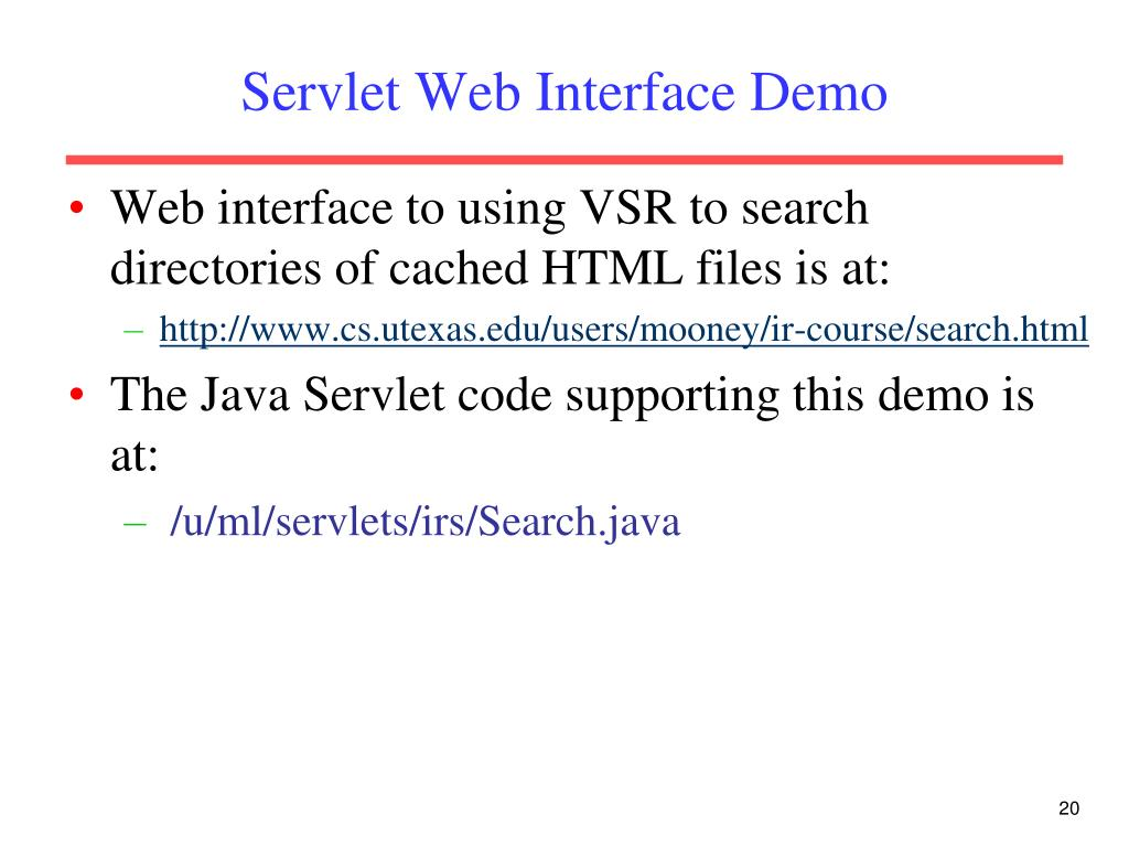 Servlet Web Interface Demo
