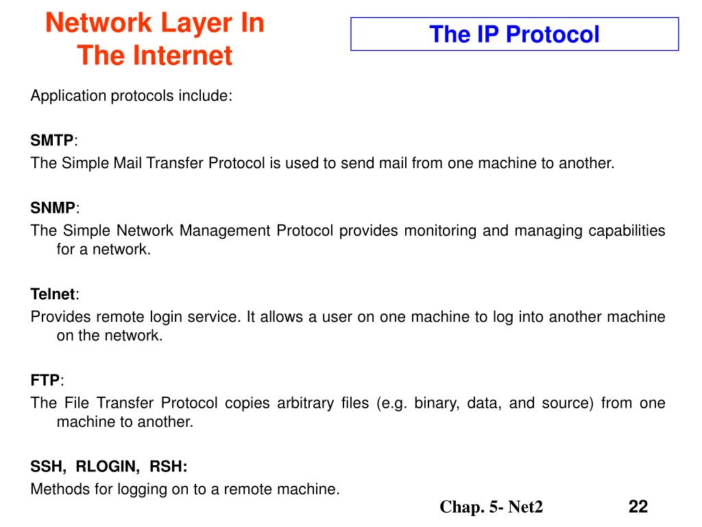 The IP Protocol