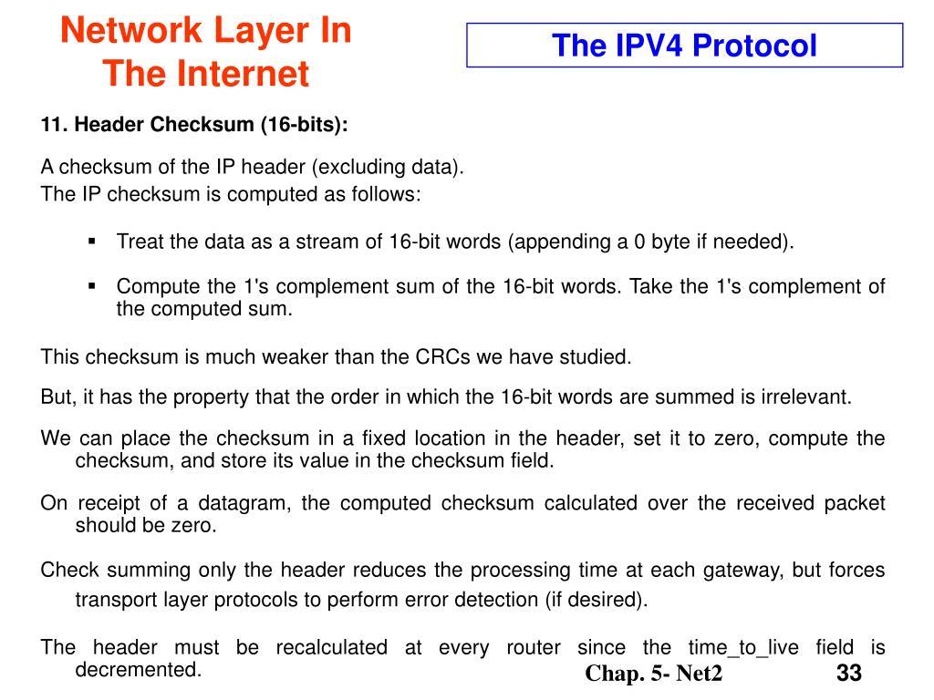 The IPV4 Protocol