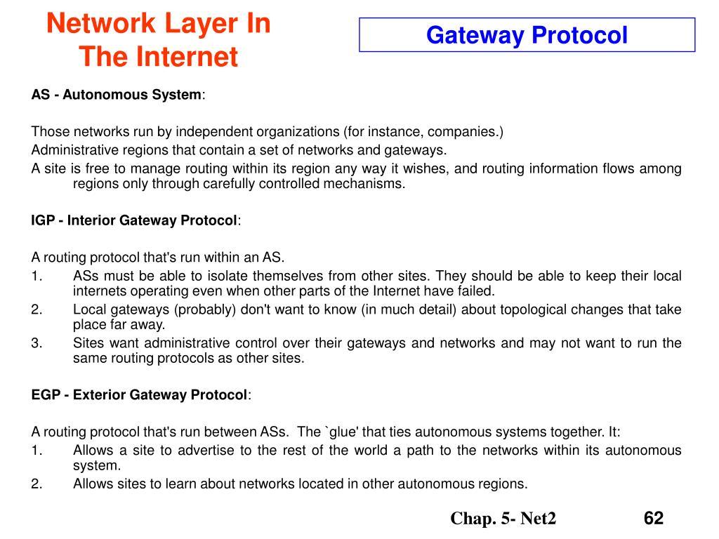 Gateway Protocol