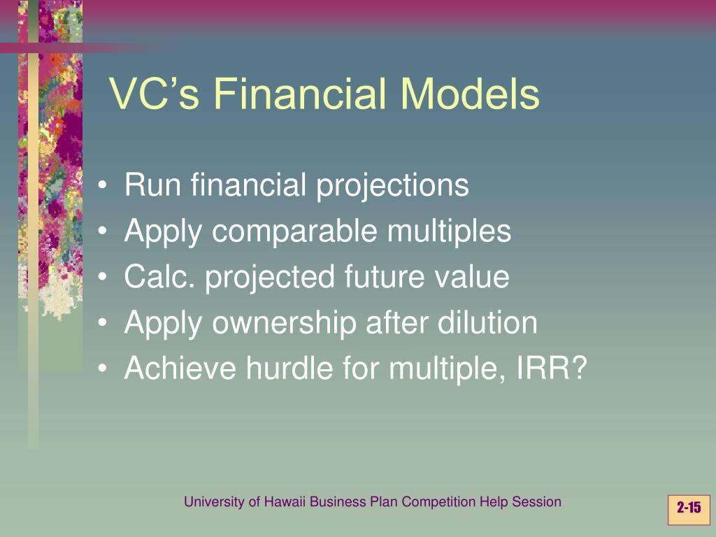 VC's Financial Models