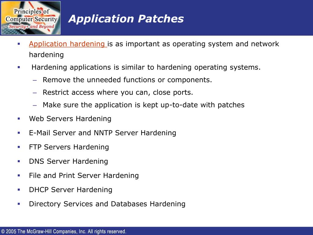 Application Patches