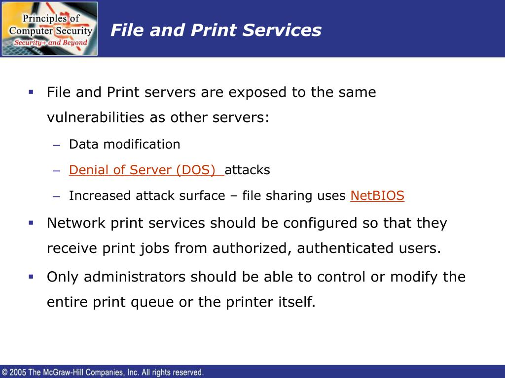 File and Print Services