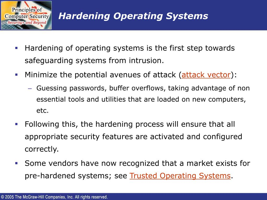 Hardening Operating Systems