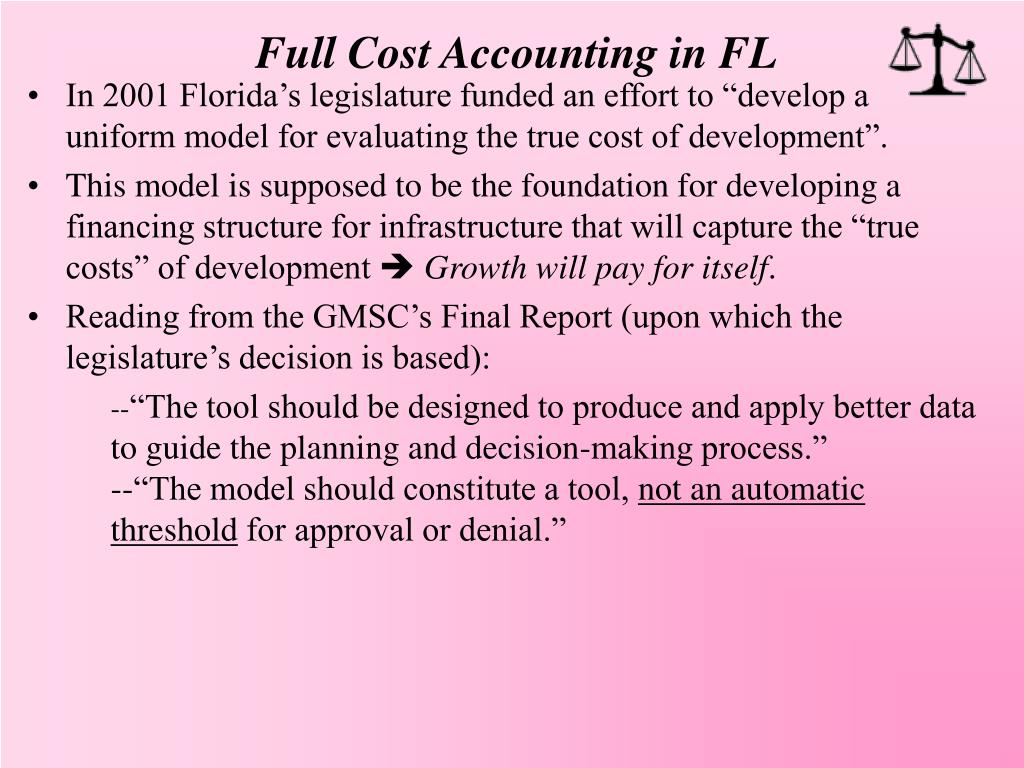 Full Cost Accounting in FL