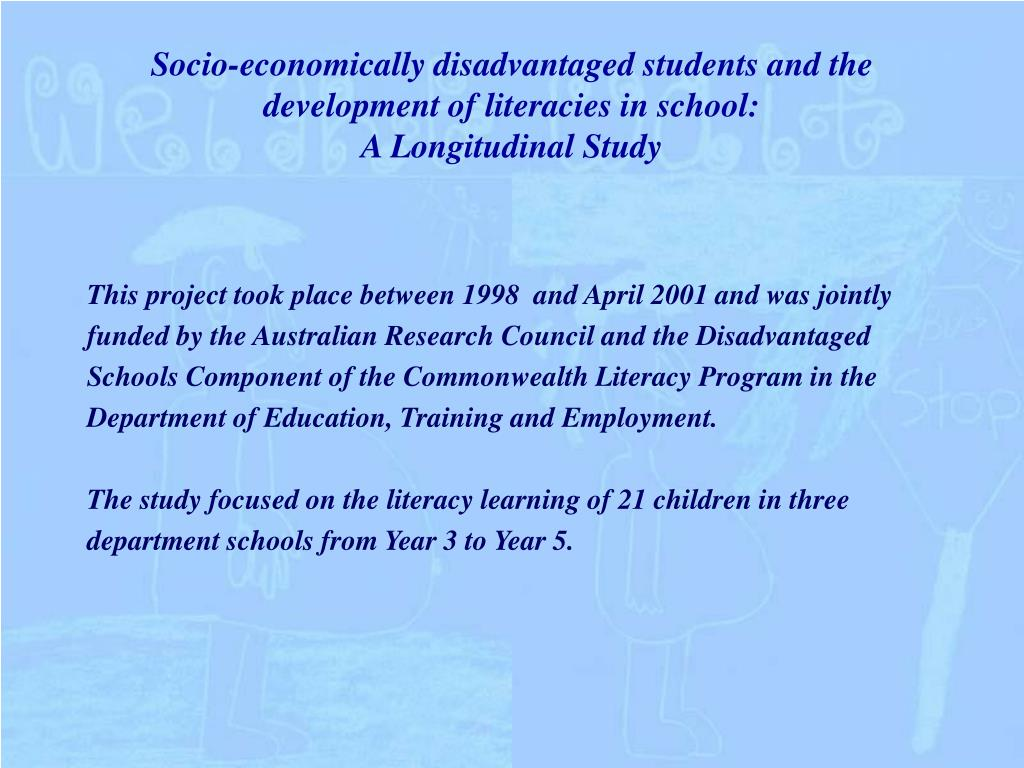 Socio-economically disadvantaged students and the development of literacies in school: