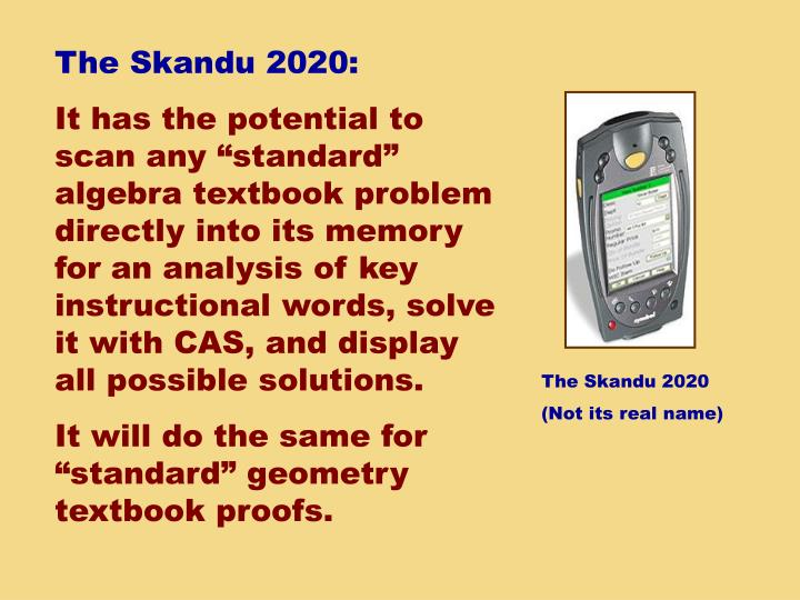 The Skandu 2020: