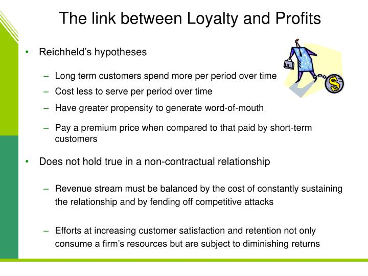 The link between Loyalty and Profits