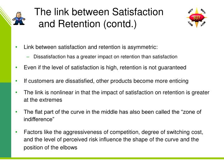 The link between Satisfaction and Retention (contd.)