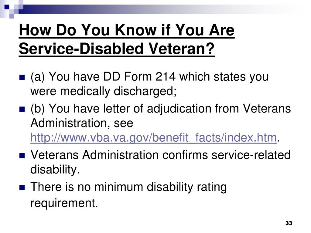 How Do You Know if You Are  Service-Disabled Veteran?