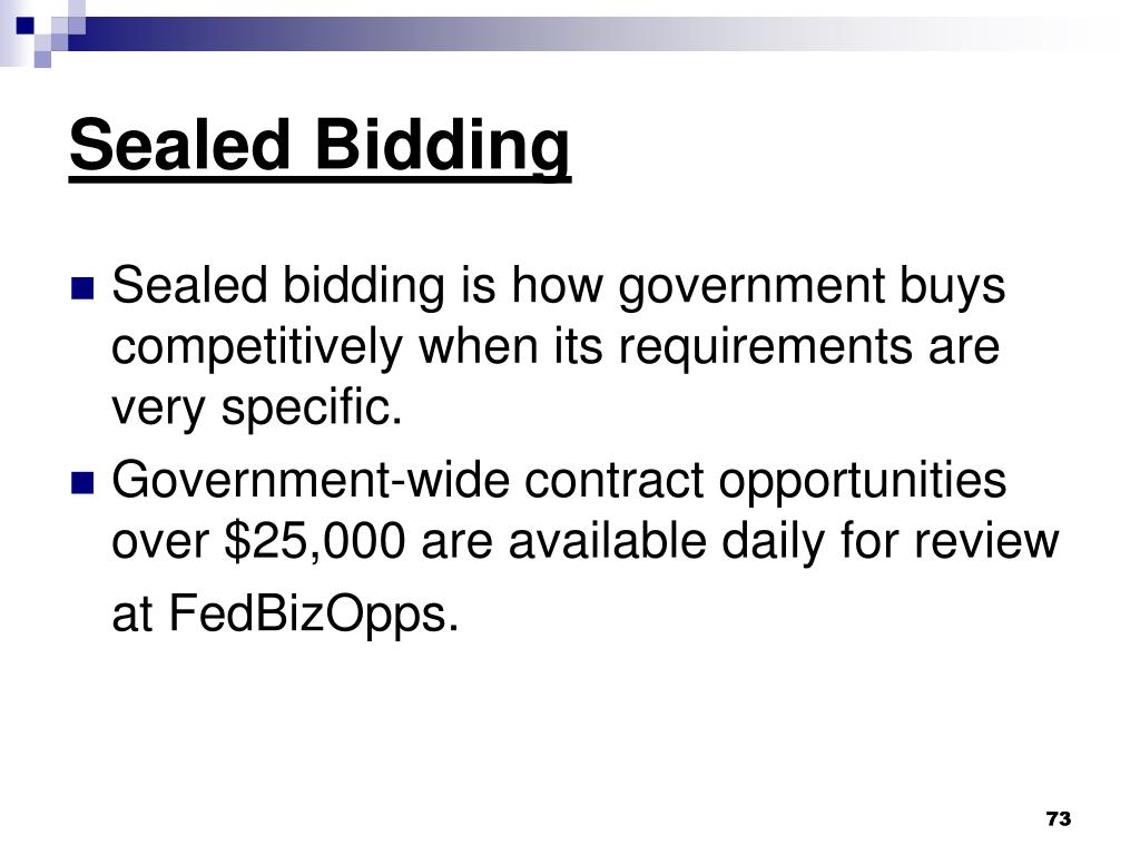Sealed Bidding